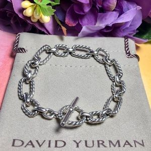 ❤️ David Yurman - Link Bracelet w/ Blue Sapphires